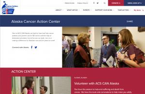 Image of Alaska Cancer Action Center Webpage