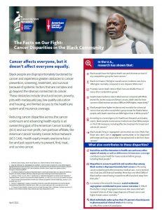 Cover Disparities in the Black Community
